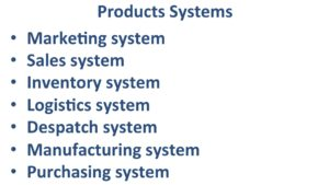 Many different Product systems.